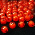 Beads, Beads-in-beads, Acrylic, Burgandy, Faceted spherical, Diameter 8mm, 10g, 40 Beads, (SLZ0354)